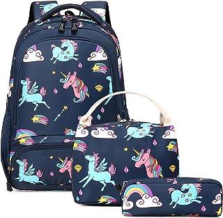 Schulranzen Rucksack Mädchen Schulrucksack Kinderrucksack Einhorn Rucksack Schultaschen Sets 3 TLG,Mädchen Daypacks Damen ...