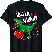 Abuelasaurus T-Shirt Valentines Day Dinosaur Shirt Abuela