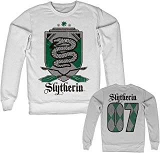 Officially Licensed Inked Harry Potter - Slytherin 07 Sweatshirt (White)