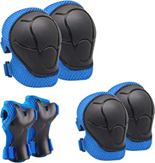 Sponsored Ad - Linda Kids/Youth Knee Pad Elbow Pads Guards Protective Gear Set for Roller Skates Cycling BMX Bike Skateboa...