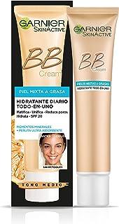 Garnier SkinActive, BB Cream Matificante Crema Correctora y Anti Imperfecciones, Pieles Mixtas a Grasas, Tono Medio, SPF2...