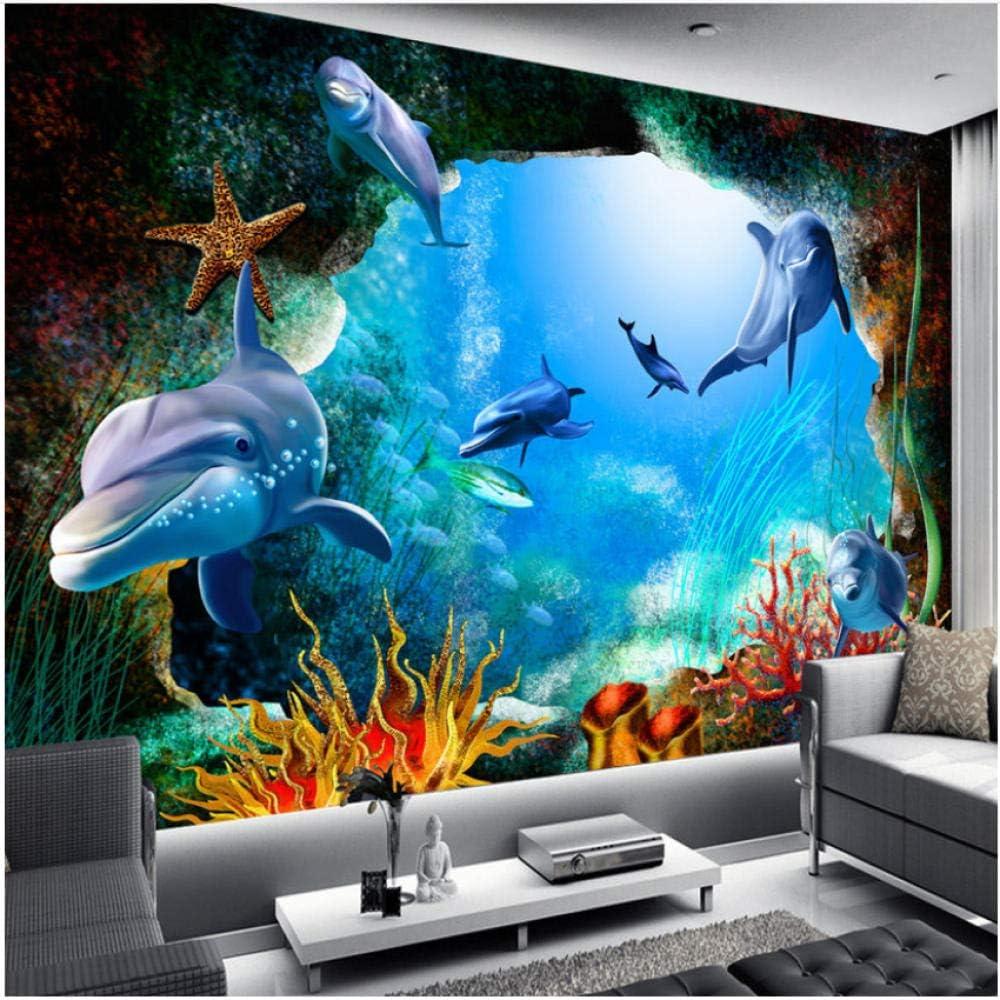 xbwy Mural Wallpaper Scenery Elegant for Walls Seabed Cave Cartoon Sale Ocean