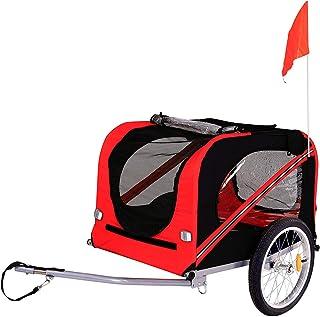dibea Fahrradanhänger für Hunde inkl. Anhängerkupplung und Sicherheitsgurten..