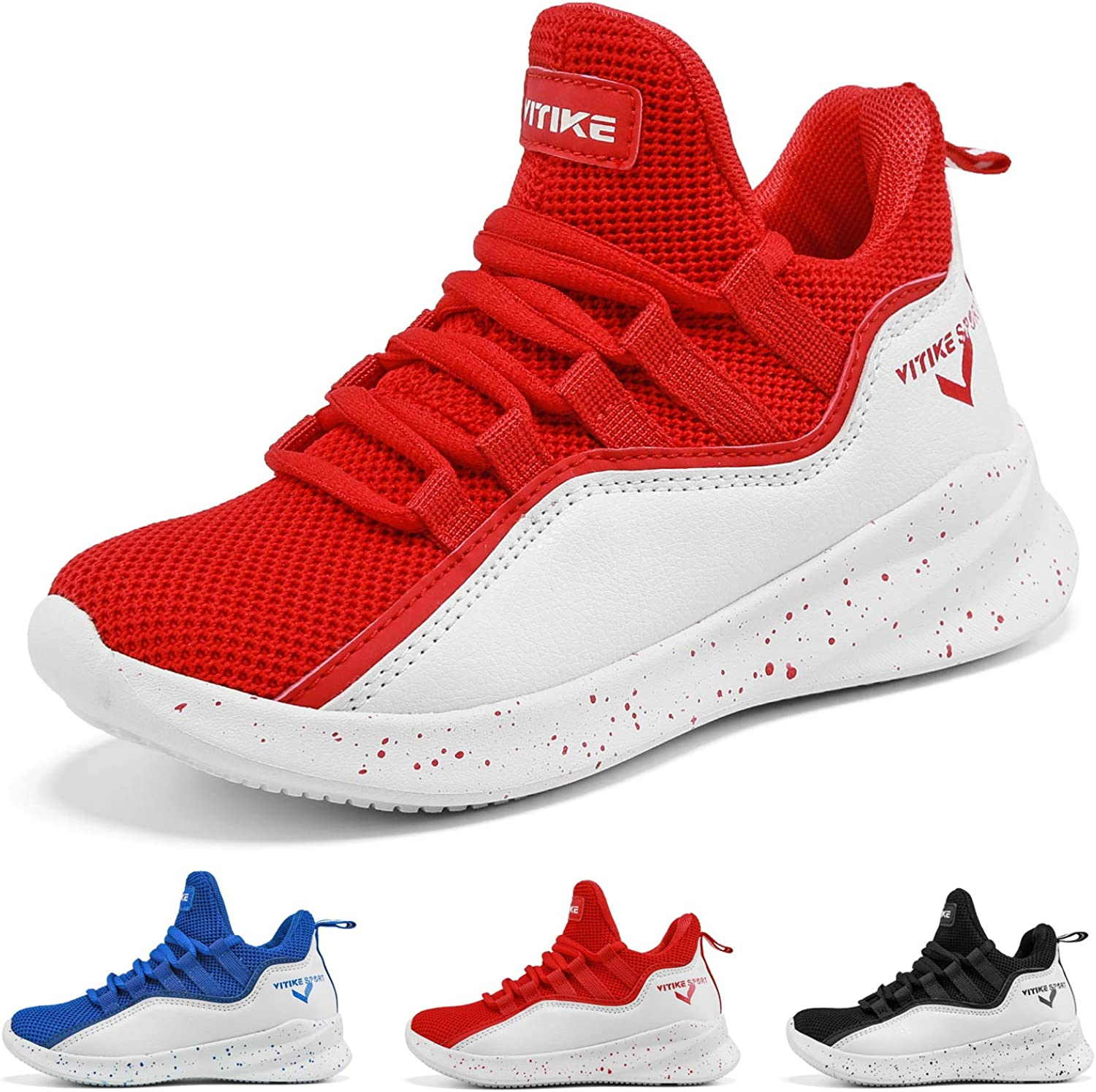 WETIKE Kid's Basketball shoes High-Top Sneakers Outdoor Trainers Durable Sport shoes(Little Kid Big Kid)