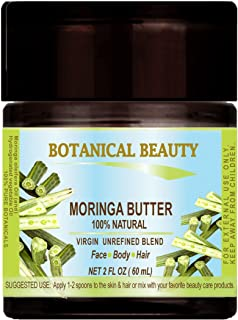 MORINGA BUTTER – OIL 100 % Natural / VIRGIN UNREFINED RAW 2 Fl.oz.- 60 ml. For Skin, Hair and Nail Care.