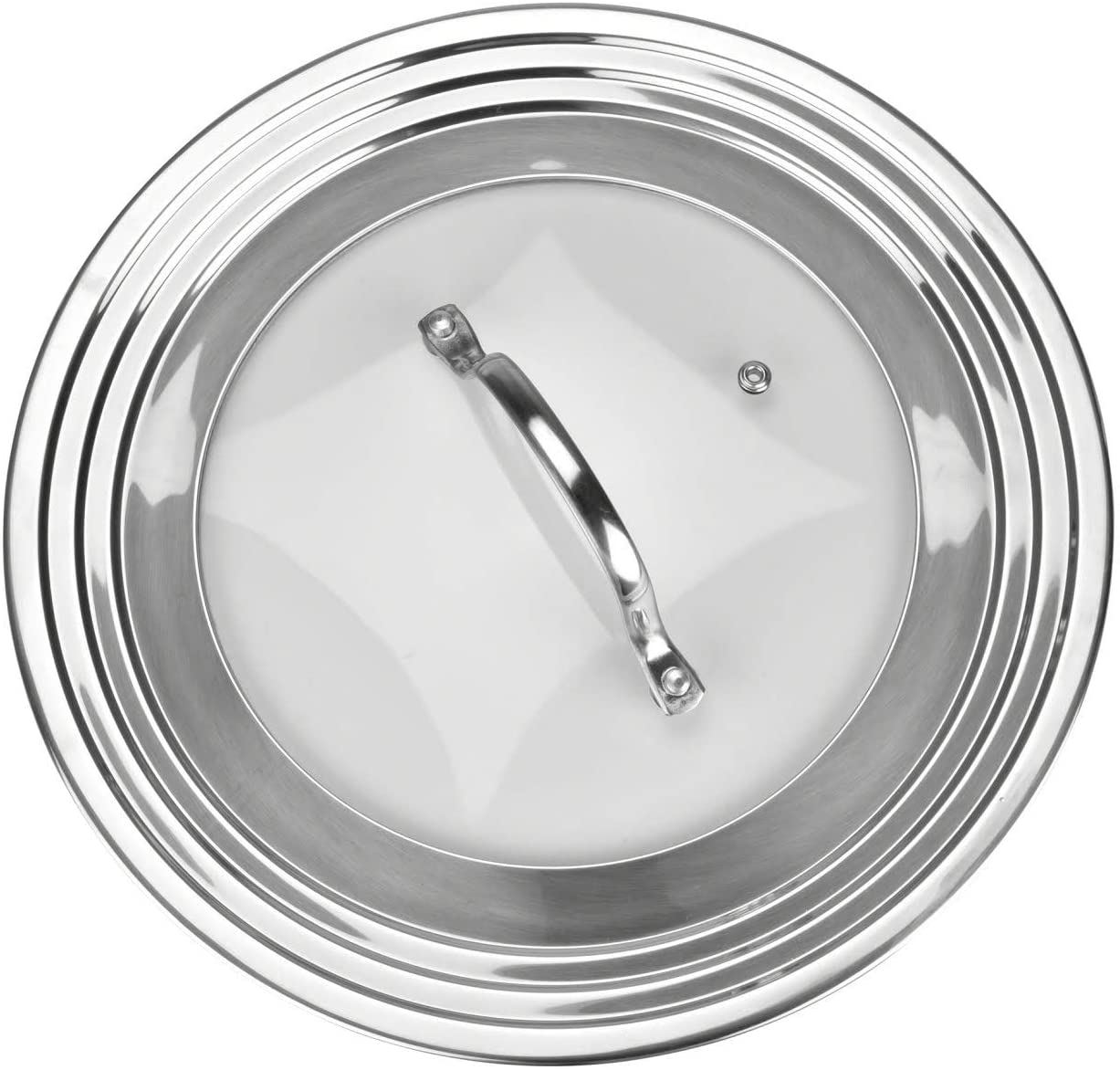 Stainless Steel Universal Lid for Pots, Pans and Skillets - Fits 7 In to 12 In Pots and Pans - Replacement Frying Pan Cover and Cast Iron Skillet Lid : Home & Kitchen