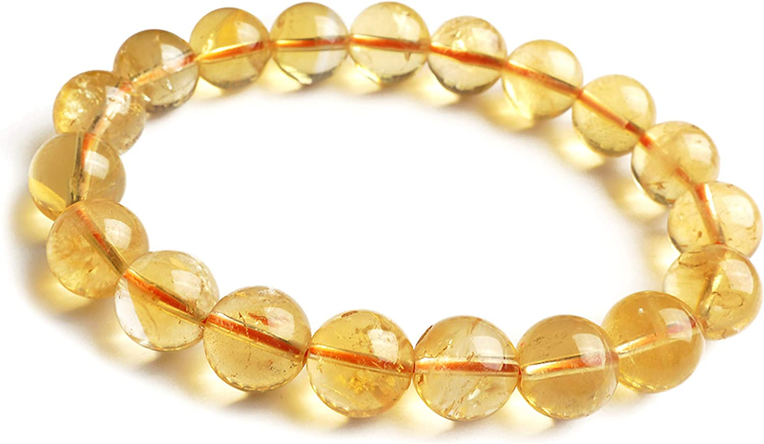 11mm Natural Ranking integrated 1st Ranking TOP19 place Yellow Citrine Quartz Crystal S Round Bead Gemstone