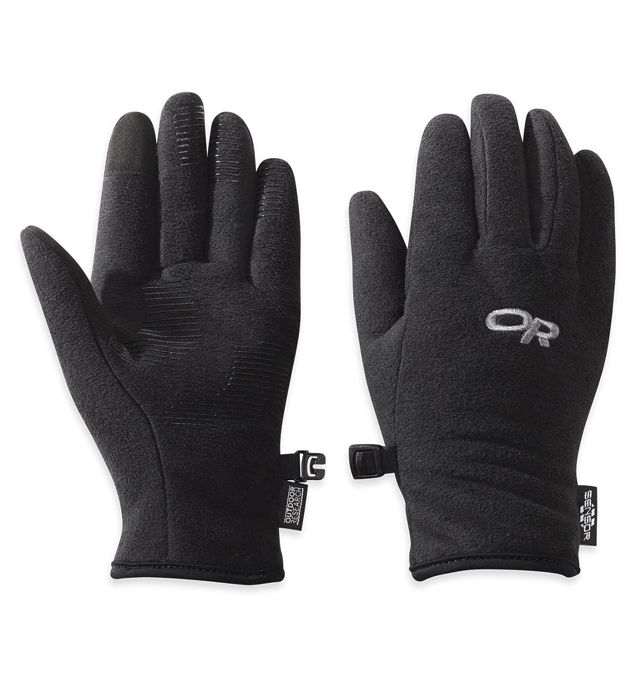 裏切り非アクティブオプショナルOutdoor Research Fuzzy Sensor Women's Gloves black L