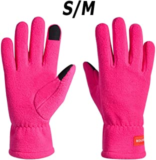Outdoor Sports Warm Gloves Non-Slip Breathable Long Finger Touch Screen Bolton Outdoor Non-Slip Breathable Long Finger Touch Screen Warm Gloves Red S/M