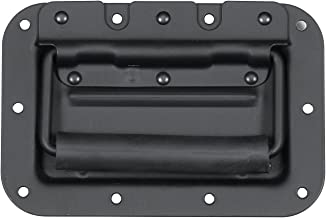 Reliable Hardware Company RH-0511BK-A Medium Spring Loaded Recessed Handle, 10 Hole, Black