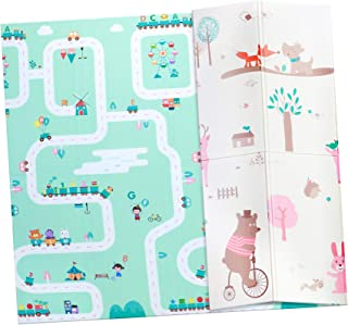 Ashtonbee Baby Foam Play Mat - Foldable, Waterproof, Reversible Playmat For Toddlers And Kids