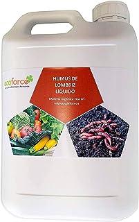CULTIVERS Humus Líquido de Lombriz Ecológico de 5 l. Materia Orgánica Rica en Microorganismos. Regenerador de la Vida del Suelo. Aumenta la Calidad y producción de Las cosechas.