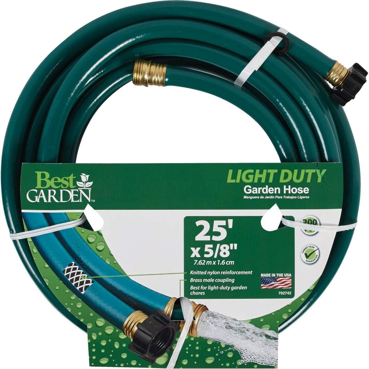 Best Garden 5/8 in. Dia. x 25 Ft. L. Light-Duty Garden Hose - 1 Each