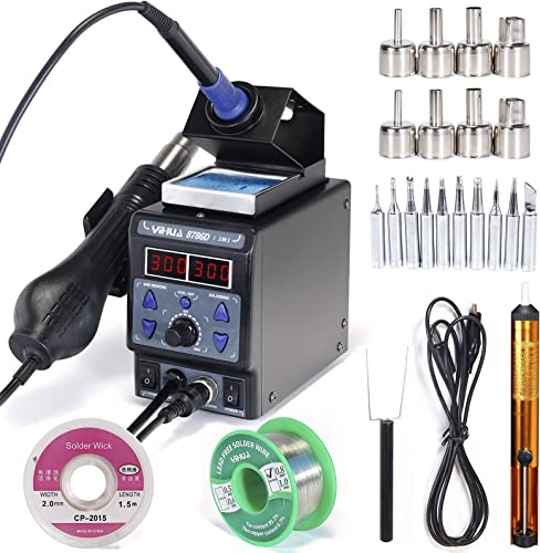 discount YIHUA discount 8786D-I Soldering & Rework Station bundle with #2300 Hot Air Nozzles with Iron Holder, Cleaning Kit, discount and Accessories (28 Items) sale