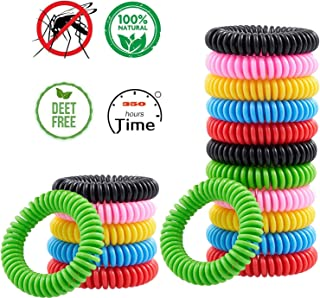 PERELER 18 Pack Mosquito Repellent Bracelet Band for Kids, Adults & Pets-100% Natural DEET-Free, Non Toxic, Waterproof Safe Travel Anti Insect Bands for Outdoor & Indoor-350Hrs of Protection