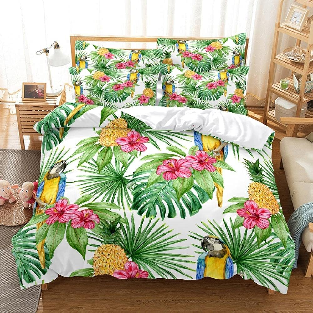JTBDWOSK Spasm price Children Duvet Covers Wholesale Super King Banana Leaf Green Plan