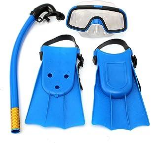 OUTERDO Junior Children Snorkeling Set Snorkel Mask Goggles Flippers Scuba Swimming Diving Kids Set