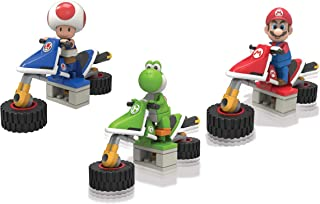 Mario Kart Knex Mario Toad and Yoshi 3 Set Bike and Figures Bundle