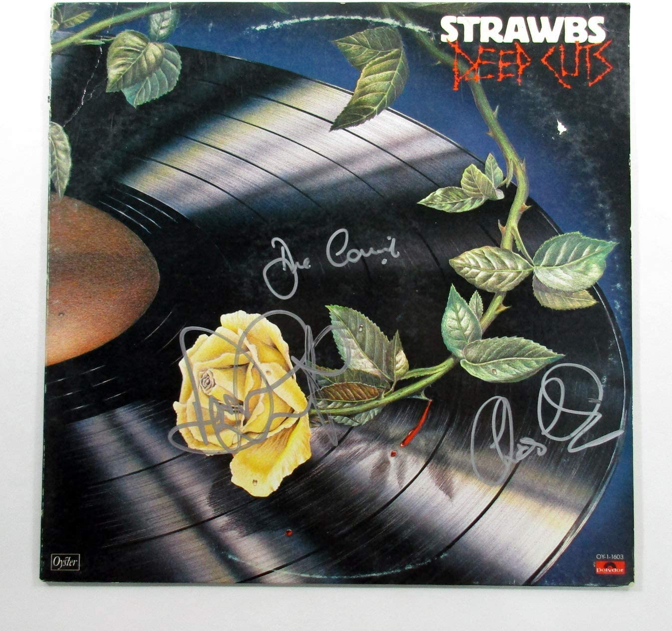 Rapid rise Dave Cousins and 2 Max 87% OFF More Signed Record Album Deep Cuts LP Strawbs