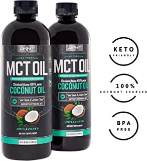 Onnit MCT Oil - Pure MCT Coconut Oil, Ketogenic Diet and Paleo Optimized with C8, C10, Lauric Acid - Perfect for Coffee, Shakes, and Cooking (Flavorless - 48oz)