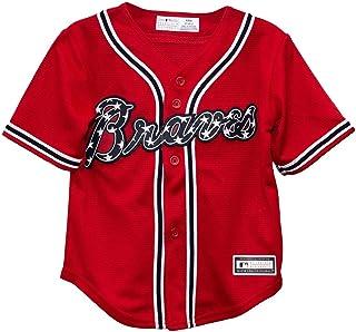 Outerstuff Atlanta Braves Blank Red Youth Cool Base Alternate Jersey 6d8ec6141