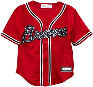 Outerstuff Atlanta Braves Blank Red Youth Cool Base Alternate Jersey