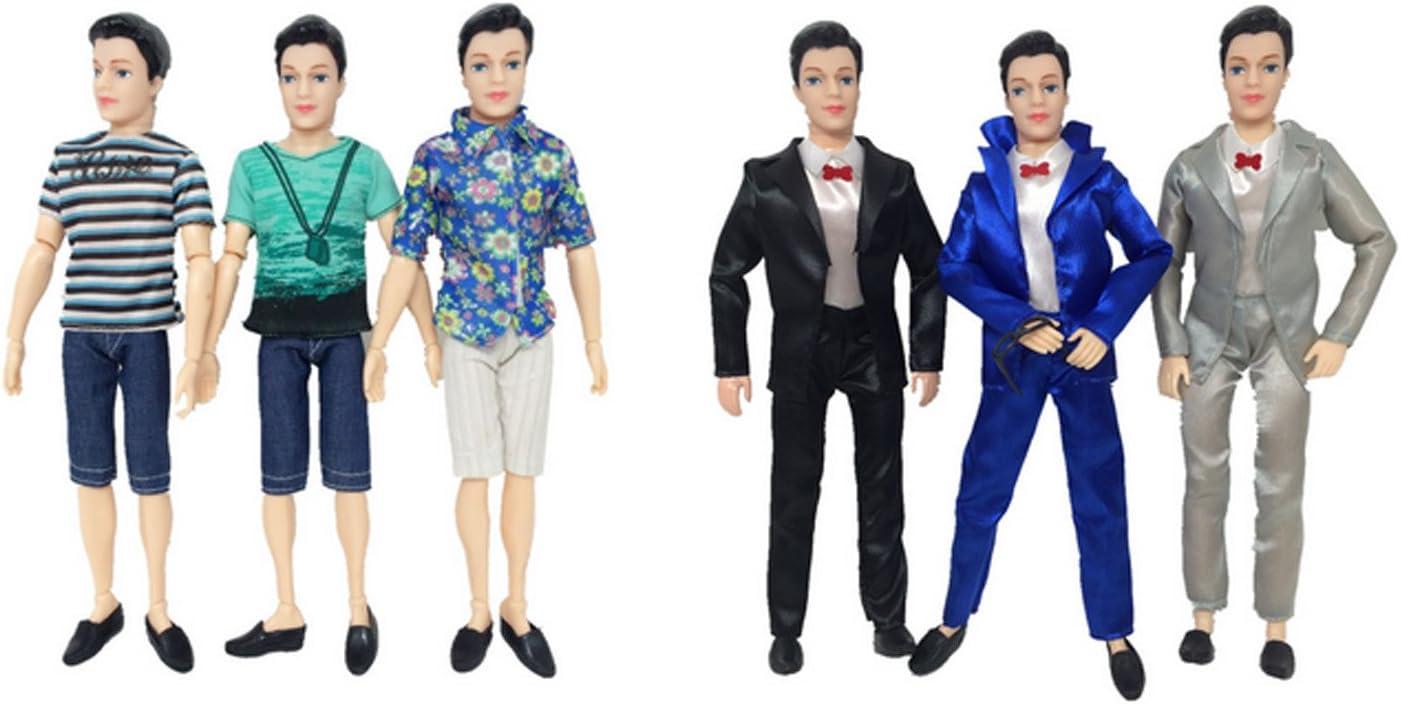 Gosear Ken Doll 5 Sets Fashion Casual Wear Doll Clothes Jacket Pants Outfits Accessories Men Boy Ken for Dolls Random Style