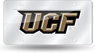 Rico Industries NCAA Central Florida Golden Knights Laser Inlaid Metal License Plate Tag, Silver