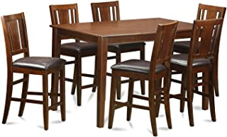 DUBU7H-MAH-LC 7 Pc Counter height Table set- counter height Table and 6 counter height Chairs.