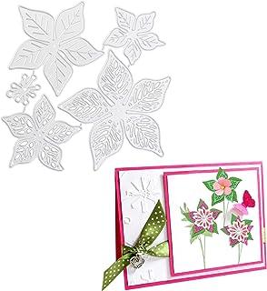 OOTSR Dies de Découpe Scrapbooking Fleurs, Matrice de Découpe en Métal, Dies de Découpe fleurs Fleurs Acier Au Carbone Scr...