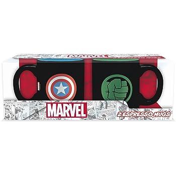 ABYstyle Naruto Shippuden Marvel - Juego de 2 mini tazas de Capitán América y Hulk para adultos, ABYMUG365: Amazon.es: Juguetes y juegos
