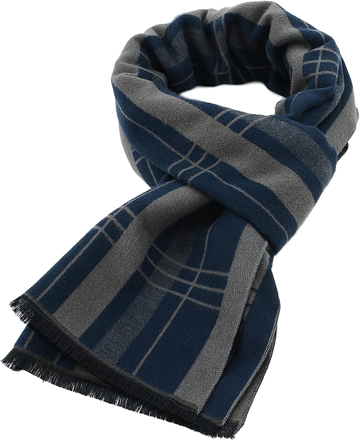 Zando Men's Cashmere Feel Scarf Business Casual Scarf for Men Extra Soft Warm Long Scarves Unisex