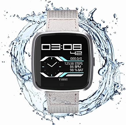 N Newkoin Smart Watch Waterproof Bluetooth Smartwatch, Sports Watch for Men/Women, with All-Day Heart Rate, Calorie and Fitness Tracking, Running Tracker, Compatible with Android and iOS (Grey)