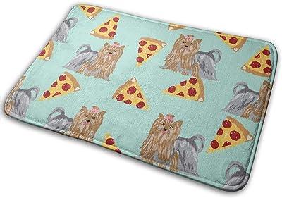 """Yorkie Dog Mint Pizzas Cute Dog Best Yorkshire Terriers Cute Dogs Pizza Mints Cute Dog_25048 Doormat Entrance Mat Floor Mat Rug Indoor/Outdoor/Front Door/Bathroom Mats Rubber Non Slip 23.6"""" X 15.8"""""""
