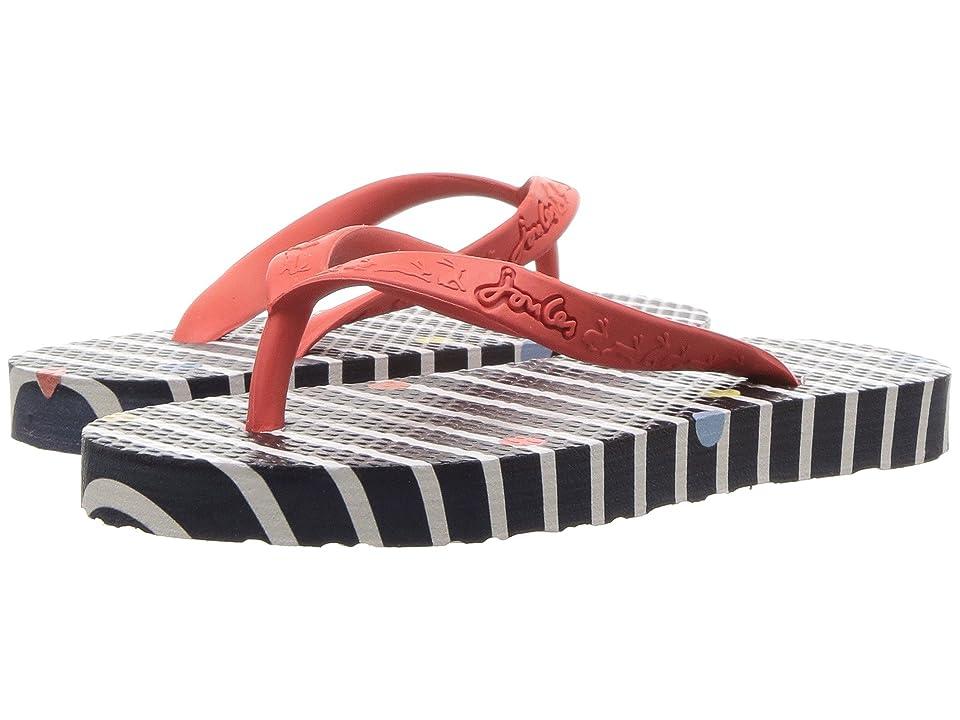 Joules Kids Flip-Flop (Toddler/Little Kid/Big Kid) (Navy Stripe Fun Spot) Girls Shoes