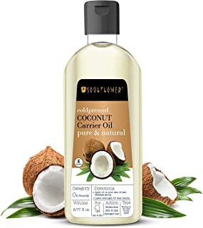 Soulflower Coconut Extra Virgin Coldpressed Oil, Deep Nourishment and Hydration, For Soft Skin and Shiny Hair, Rich Moistu...