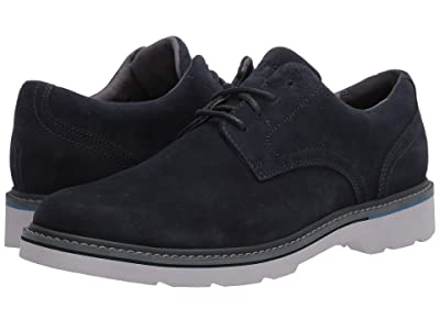 Rockport Charlee Plain Toe (Navy Suede) Men
