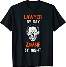 Lawyer By Day Zombie By Night Shirt Halloween Costume Gift
