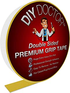 DIY Doctor DDT Xtra Strong Double Sided Carpet Rug Gripper Tape-Ultimate Grip Strength-Bonds to Almost Anything But Leaves...