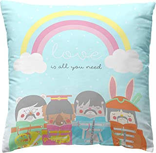 Pooch Cushion Cover LONELY BAND, 100% Cotton, Multi-Colour, 45 x 45 cm