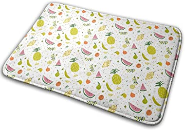 Bright Pattern with Cute Fruits Carpet Non-Slip Welcome Front Doormat Entryway Carpet Washable Outdoor Indoor Mat Room Rug 15