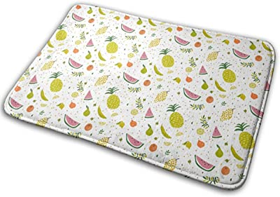 Bright Pattern with Cute Fruits Carpet Non-Slip Welcome Front Doormat Entryway Carpet Washable Outdoor Indoor Mat Room Rug 15.7 X 23.6 inch
