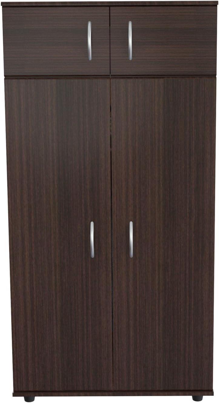 Inval 4-Door Armoire Wardrobe, Espresso