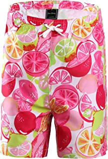 ffanhang Quick Dry UPF 50+ Active Printed Big Boy's Girl's Swim Board Beach Shorts