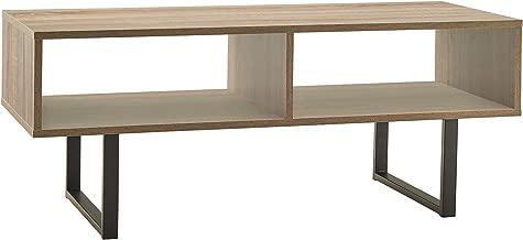 ClosetMaid 1315 Rectangular Wood Coffee Table with Storage Shelves, Gray