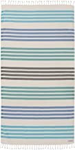 Sand Cloud Turkish Towel - Peshtemal Cotton - Great for Beach or as a Blanket - Natu (Green)