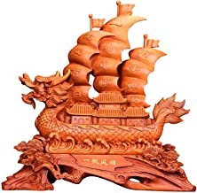Feng Shui Statue Ornament Sailboat Boat Wealth Prosperity Sculpture, Home Decoration Attract Wealth And Good Luck,A CHSCC ...