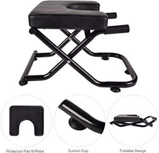 YU YUSING Yoga Headstand Inversion Bench with Suction Cup, Fitness Stand Yoga Chair for feet up Yoga Trainer Leg Stool Workouts for Family, Gym