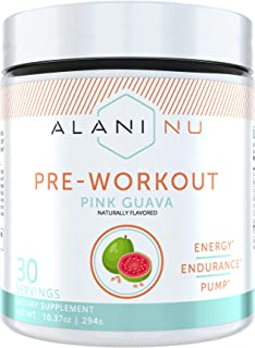 Alani Nu Pre-Workout Supplement Powder for Energy, Endurance, and Pump, Pink Guava, 30 Servings