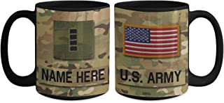 US Army Chief Warrant Officer 4 (CW4) Mug - Personalized - Customize with Name/Text/Rank; 15 oz Cup - Gift for Veteran, Dad, Husband, Mom, Wife, Brother, Sister, Son, Daughter